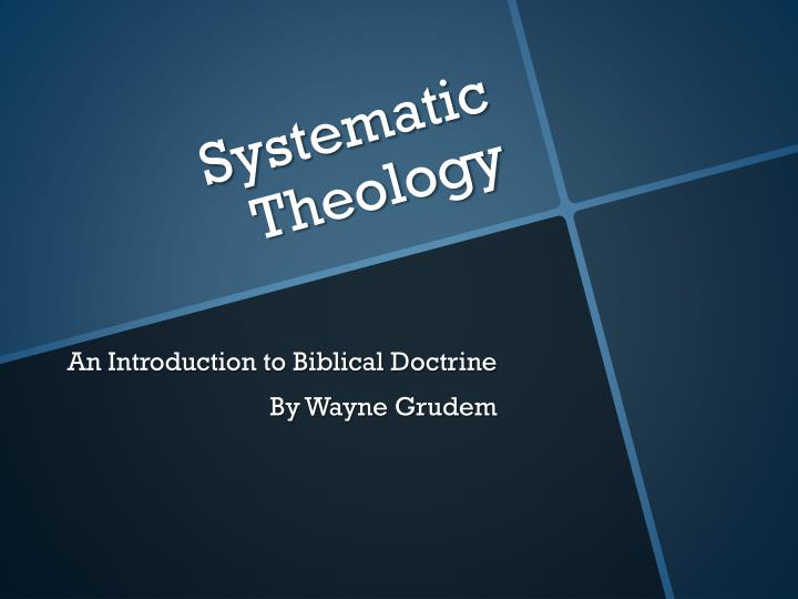systematic theology n.