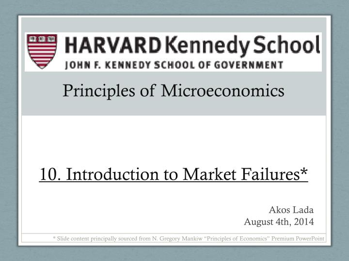 principles of microeconomics 10 introduction to market failures n.