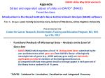 Functional Analysis of Microarray Data – Analysis at the Level of  Gene Sets