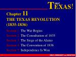Chapter 11 THE TEXAS REVOLUTION (1835-1836)