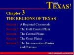 Chapter  3 THE REGIONS OF TEXAS