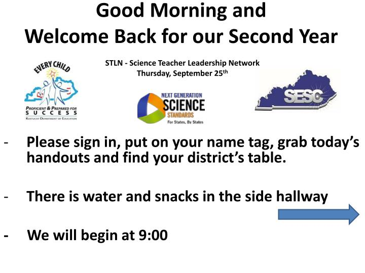 good morning and welcome back for our second year n.