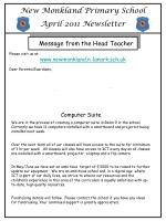 New Monkland Primary School April 2011 Newsletter