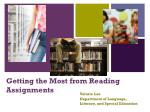 Getting the Most from Reading Assignments
