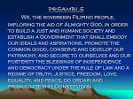 Meaning of PREAMBLE