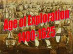 Age of Exploration 1400-1625