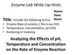 Enzyme Lab Write-Up Hints