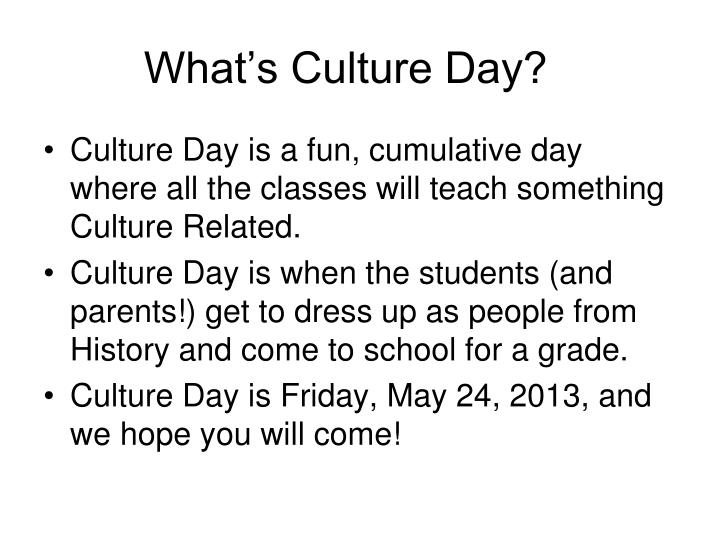 what s culture day n.