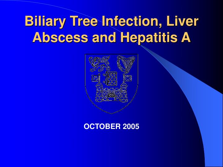 biliary tree infection liver abscess and hepatitis a n.