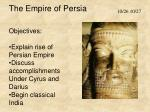The Empire of Persia