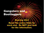 Gangsters and Bootleggers