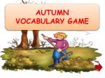 AUTUMN VOCABULARY GAME