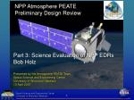 NPP Atmosphere PEATE Preliminary Design Review