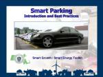 Smart Parking Introduction and Best Practices