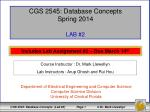CGS 2545: Database Concepts Spring 2014 LAB #2