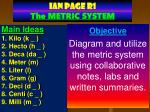 IAN PAGE  R1 The METRIC SYSTEM