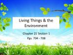 Living Things & the Environment