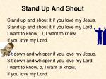 Stand Up And Shout
