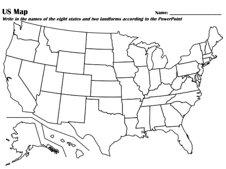 PPT - Blank-US-Map PowerPoint Presentation - ID:6190824