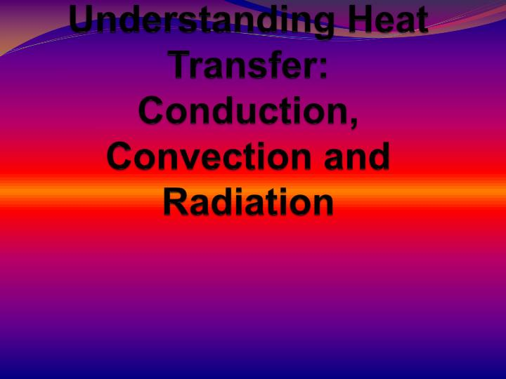 understanding heat transfer conduction convection and radiation n.