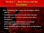 Section 2 – Heat Stress and the Firefighter