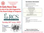 A Gala Race Day In Aid of the 2013 Appeal for The Royal College of Surgeons