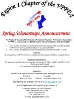 Spring Scholarships Announcement