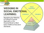 Wedging in  Social Emotional Learning: