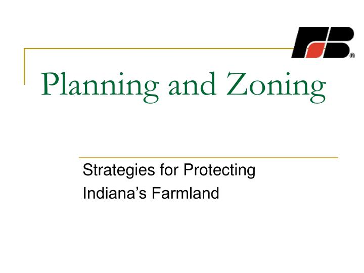 planning and zoning n.