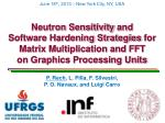 Neutron Sensitivity and Software Hardening Strategies for Matrix Multiplication and FFT