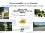 Elaboration du Plan Local d'Urbanisme