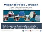 Mabaw Reef Pride Campaign Jovenal G. Edauilag, Conservation Fellow