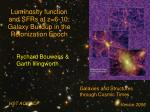 Luminosity function and SFRs at z=6-10: Galaxy Buildup in the Reionization Epoch