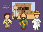 Acts 24-26 Who's Who?