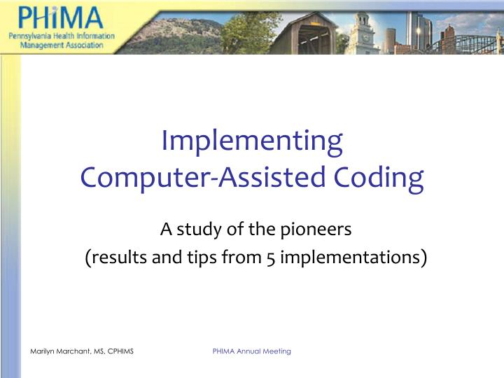 implementing computer assisted coding n.