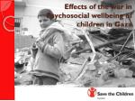 Effects of the war in Psychosocial wellbeing of children in Gaza