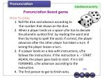 Pronunciation Board game