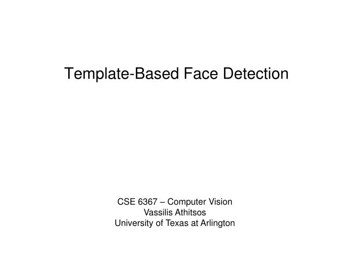 template based face detection n.