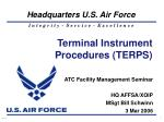 Terminal Instrument Procedures (TERPS)