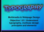 Multimedia & Webpage Design