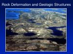 Rock Deformation and Geologic Structures
