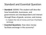 Standard and Essential Question