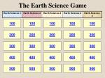 The Earth Science Game