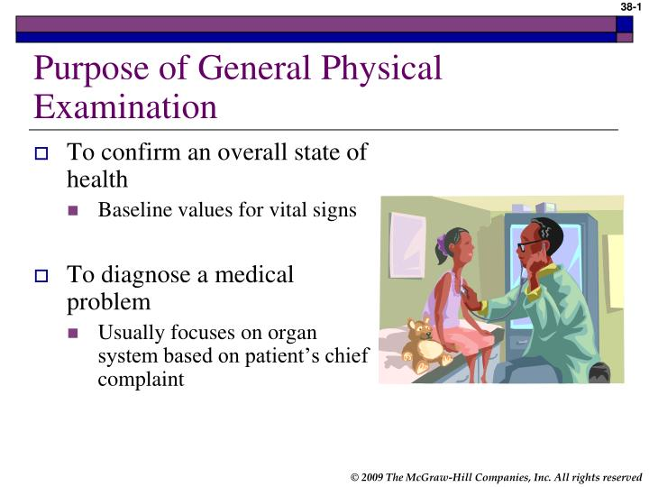 purpose of general physical examination n.