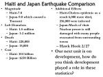 Haiti and Japan Earthquake Comparison