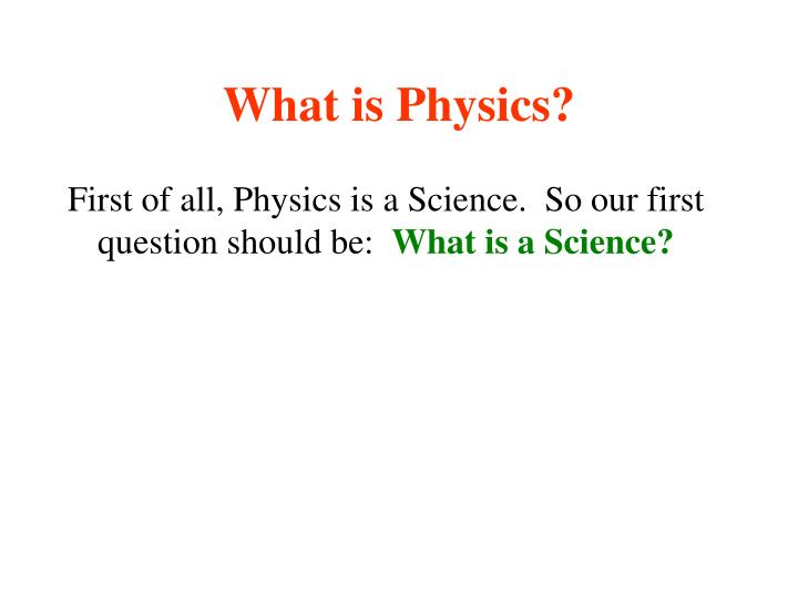 what is physics n.