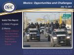 Mexico: Opportunities and Challenges July 12, 2011