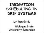 IRRIGATION SCHEDULING IN DRIP SYSTEMS