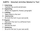 DARTS – Directed Activities Related to Text