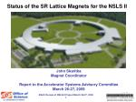 Status of the SR Lattice Magnets for the NSLS II